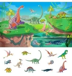 Animals jurassic concept vector