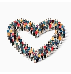 heart love people sign vector image vector image