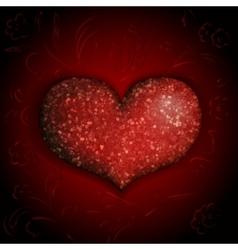 shiny heart vector image