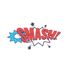 Smash Comic Speech Bubble vector image