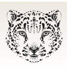 snow leopard head vector image