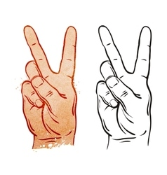 Victory and Peace Gesture Symbol vector image vector image