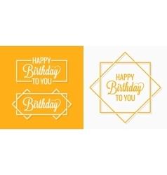 Birthday set badges labels vector image