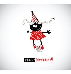 Happy Birthday girl funny vector image vector image