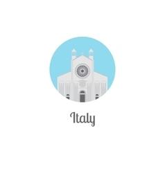 Italy landmark isolated round icon vector