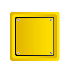 Square emblem notice in blank vector