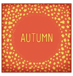 Abstract autumn frame vector image