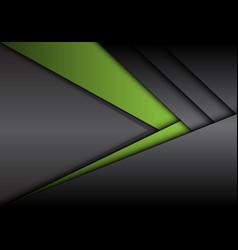 Abstract green grey metallic arrow direction vector