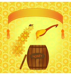 barrel of honey vector image