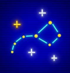 Big dipper constellation vector