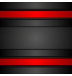 Black and red corporate tech design vector