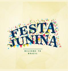 Brazilian holiday festa junina celebration party vector