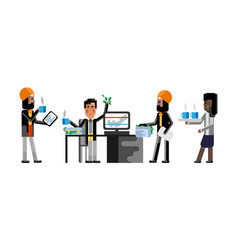 Business meeting asian and indian businessmen vector