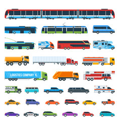 Car icons set 2 vector