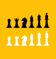 chess icons collection design elements collection vector image