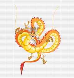chinese gold dragon vector image