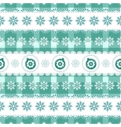 Christmas seamless background with balls vector