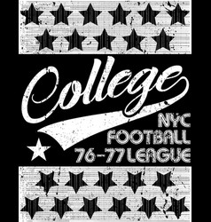College t-shirt graphic vector