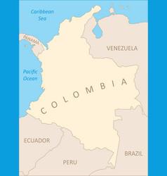 Colombia region map vector