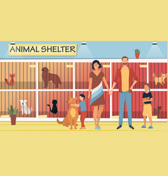 concept animal shelter for stray pets kind vector image
