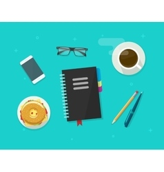 Concept of coffee break time breakfast working vector image