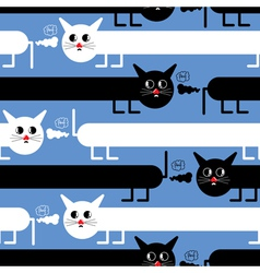 Crazy cats vector