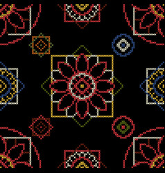 cross stitch for fabric vector image