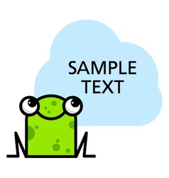 Cute cartoon frog vector
