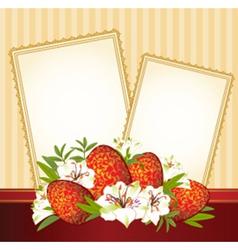 Easter border frame vector image