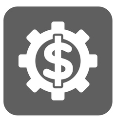 Financial Options Flat Squared Icon vector image
