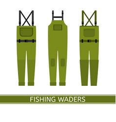 Fishing waders isolated vector