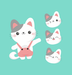 flat cute kitten character vector image