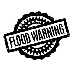 Flood warning rubber stamp vector