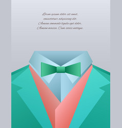 funny men39s suits and place for text for vector image