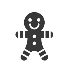 gingerbread man cute christmas and winter related vector image