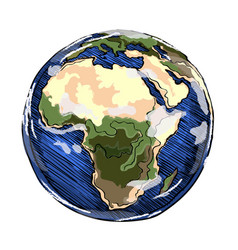 Globe africa continent vector