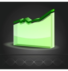 Graph Line Chart icon vector