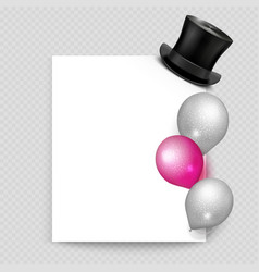 greeting card realistic balloons vector image