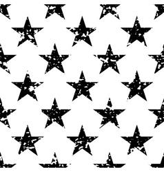 Grunge stars seamless pattern vector