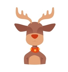 Happy cartoon Christmas Reindeer vector image