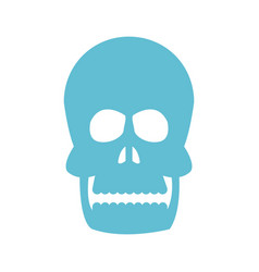 human head skull bone medicine image vector image