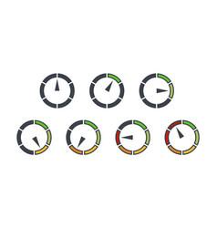 Info-graphic gauge elements speedometer set icons vector