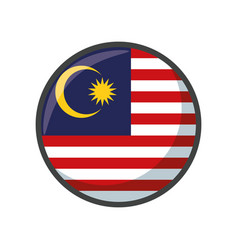 Isolated malaysia flag icon block design vector
