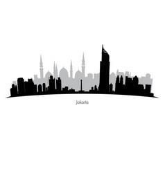 Jakarta skyline vector