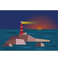 Lighthouse During Sunset vector image