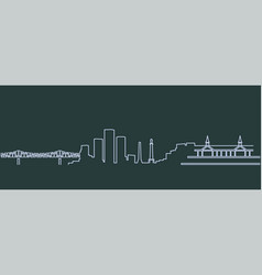 Louisville single line skyline vector