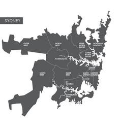 Map sydney district vector