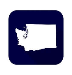 map us state washington vector image