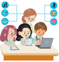 Medical students vector