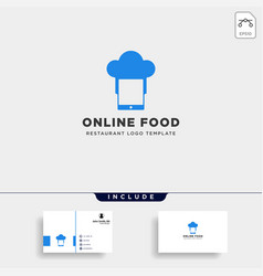 mobile phone chef restaurant technology simple vector image